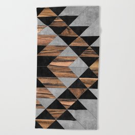 Urban Tribal Pattern No.10 - Aztec - Concrete and Wood Beach Towel