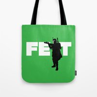 boba fett Tote Bags featuring Boba Fett by Vector Vectoria