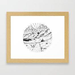 Rustler's Gulch Framed Art Print