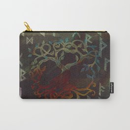 Tree of life  -Yggdrasil - and runes Carry-All Pouch