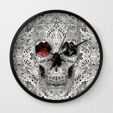 Lace Skull Light Wall Clock