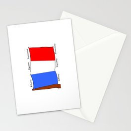 Flag of France III- France, Français,française, French,romantic,love,gastronomy Stationery Cards