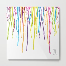 Rainbow Drips Metal Print