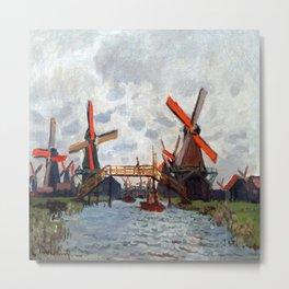 Claude Monet Windmills near Zaandam Metal Print
