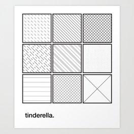 tinderella Art Print