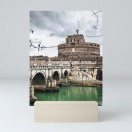 castel sant angelo in rome Mini Art Print