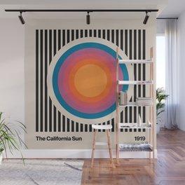 Vintage California Sun Wall Mural