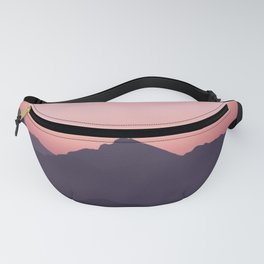 Color Gradient Mountains Fanny Pack