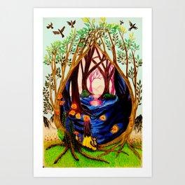 Portal To The Shadow World Surreal Art Print