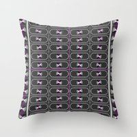 asexual Throw Pillows featuring Ace Pride by DomRuff