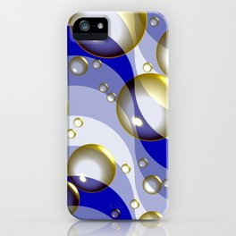 Ocean surfing (bubbles and waves) iPhone Case