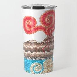 vesuvio con pino Travel Mug
