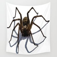 spider Wall Tapestries featuring SPIDER by aztosaha