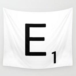Letter E - Custom Scrabble Letter Wall Art - Scrabble E Wall Tapestry