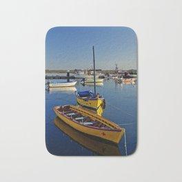 Yellow fishing boats near Tavira, the Algarve, Portugal Bath Mat