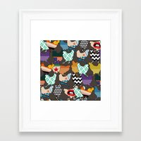 cincinnati Framed Art Prints featuring Cincinnati Chickens by Sharon Turner
