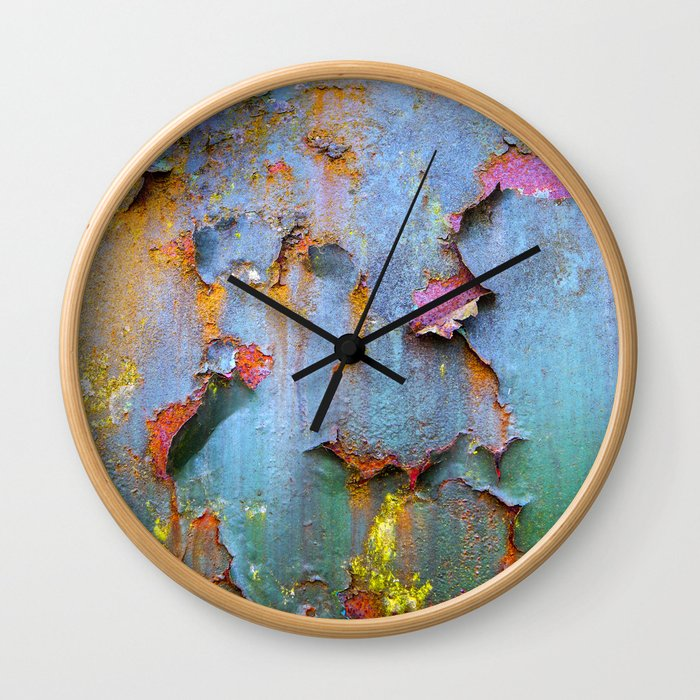 Peeling paint and rust textures 135 Wall Clock