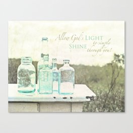 Light Shines Through Canvas Print