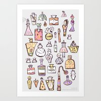 perfume Art Prints featuring Perfume  by Maddy Vian