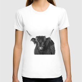 Cow photo | Black and White T-shirt