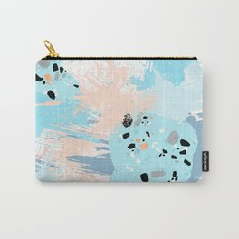 Colorful watercolors brushstrokes paint blot Carry-All Pouch