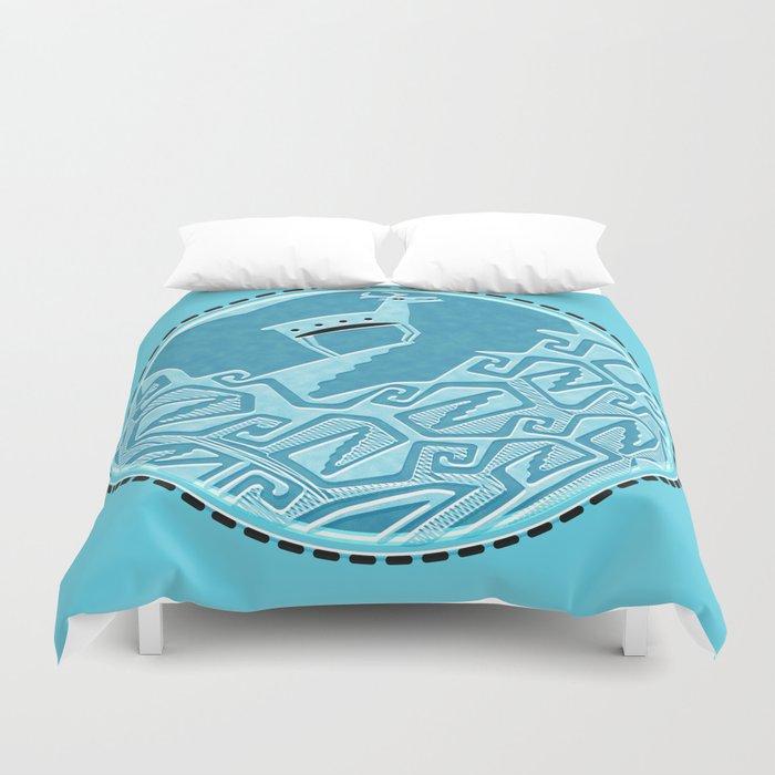 Blue Antelope Duvet Cover
