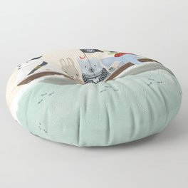 the pirate tub Floor Pillow