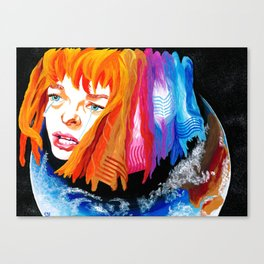 The Fifth Element (Film, 1997): Leeloo Learns Canvas Print