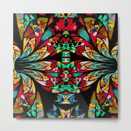 Multi Color Abstract Fractal Art Metal Print