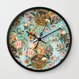 Floral and Lobster Wall Clock
