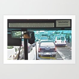 Bus Driver in SF China Town Art Print
