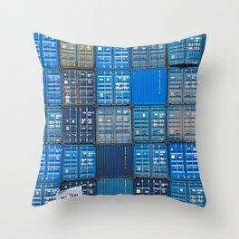 Blue boxes Throw Pillow