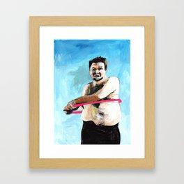 Hula Hooping Framed Art Print