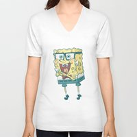 spongebob V-neck T-shirts featuring Spongebob Squarepants by gem ☮