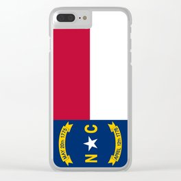 flag of north carolina-south,america,usa,Old North State,Tar Heel,North Carolinian,Charlotte,Raleigh Clear iPhone Case