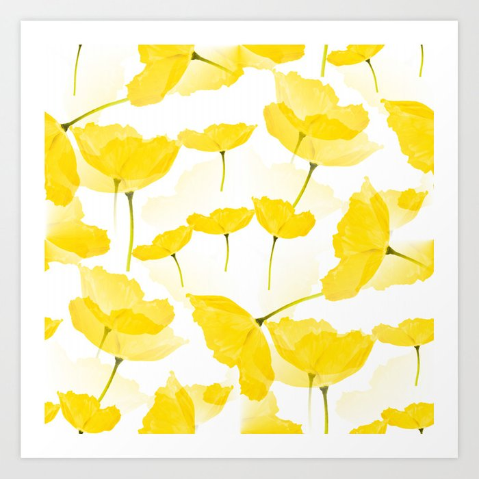 Light Yellow Poppies Spring Summer Mood #decor #society6 #buyart Kunstdrucke