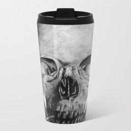 Smoking Skull Metal Travel Mug