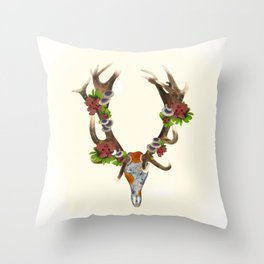 The Red Stag Throw Pillow