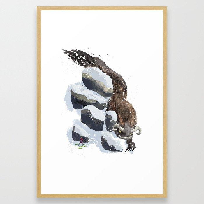 Winter & Spring Framed Art Print
