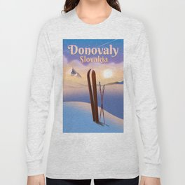 Donovaly Slovakia ski poster travel poster. Long Sleeve T-shirt