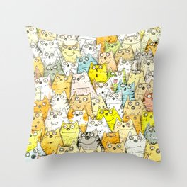 Too Many Cats? Throw Pillow