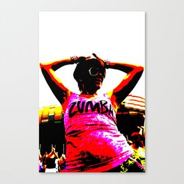 Zumba dancer dancing Canvas Print