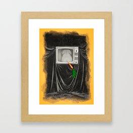 Carrot tv ad Framed Art Print