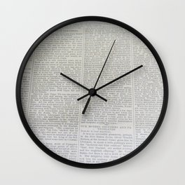Vintage News Paper  Wall Clock