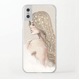 Stardust & Constellations Clear iPhone Case