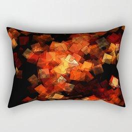square fantasy embers Rectangular Pillow