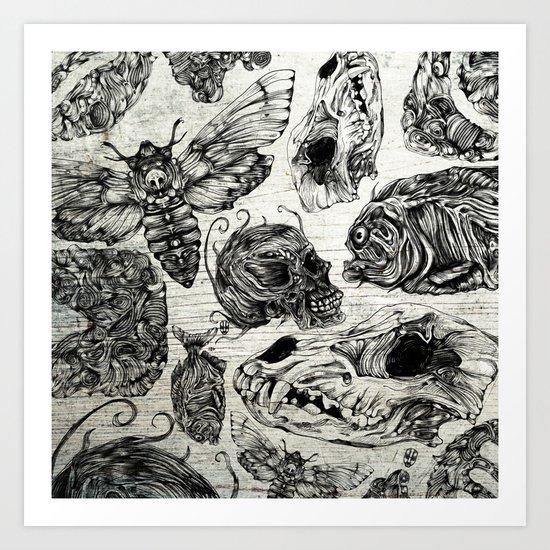 Bones and Co Art Print