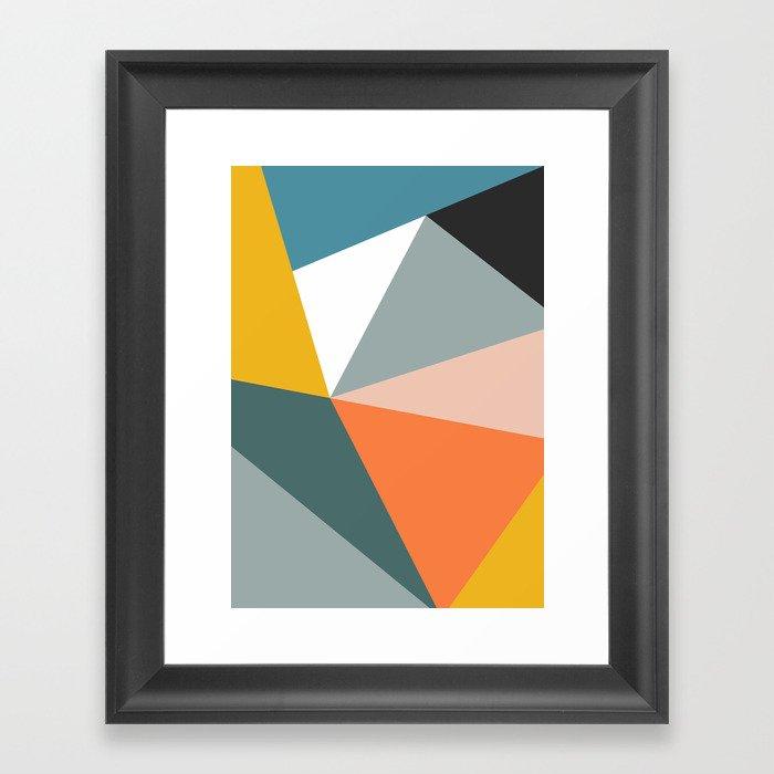 Modern Geometric 33 Gerahmter Kunstdruck