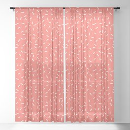 Living Coral Memphis Sheer Curtain