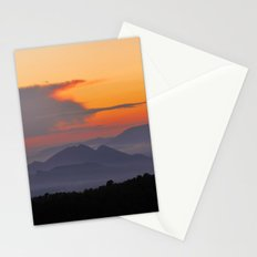 Mountains. Sunset from the forest. Stationery Cards